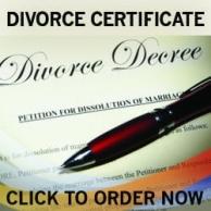 DIVORCE DECREE CERTIFICATES  Fake Divorce Decree