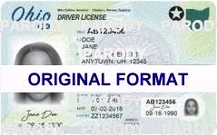 Ohio Fake Driver License Small